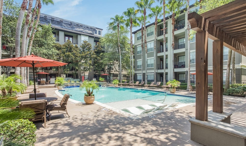 Swimming pool at our Houston apartments