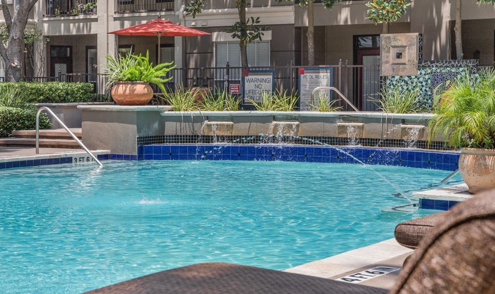 Houston apartments with a community swimming pool