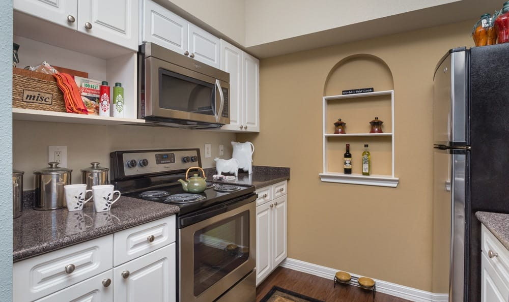 Kitchen amenities inside our Houston Texas apartments