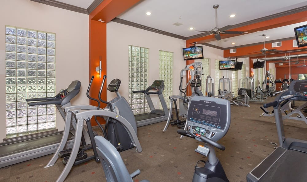 Gym and fitness center for residents of our Houston apartments