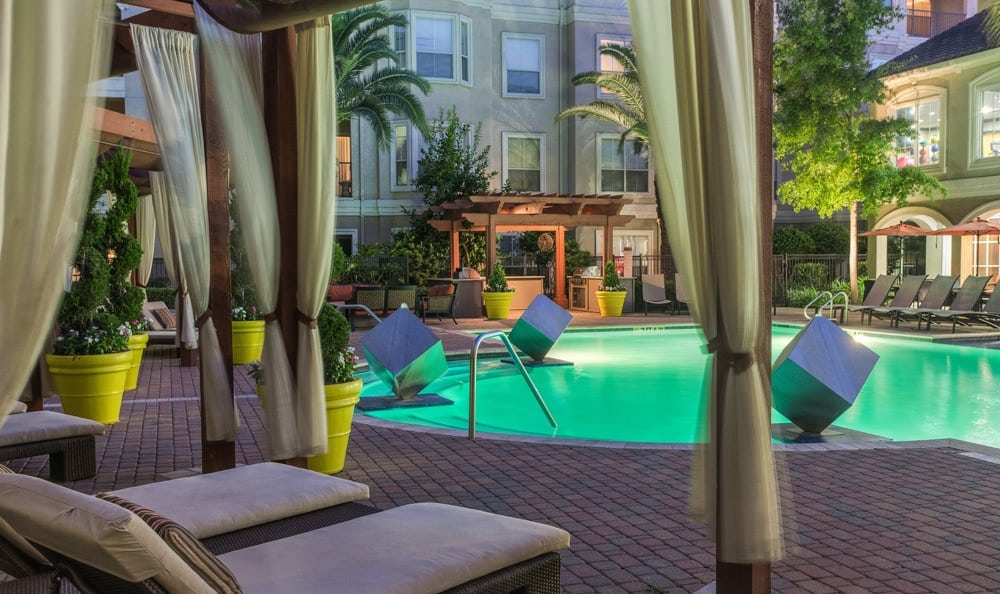 A view of our pool at our Houston apartments