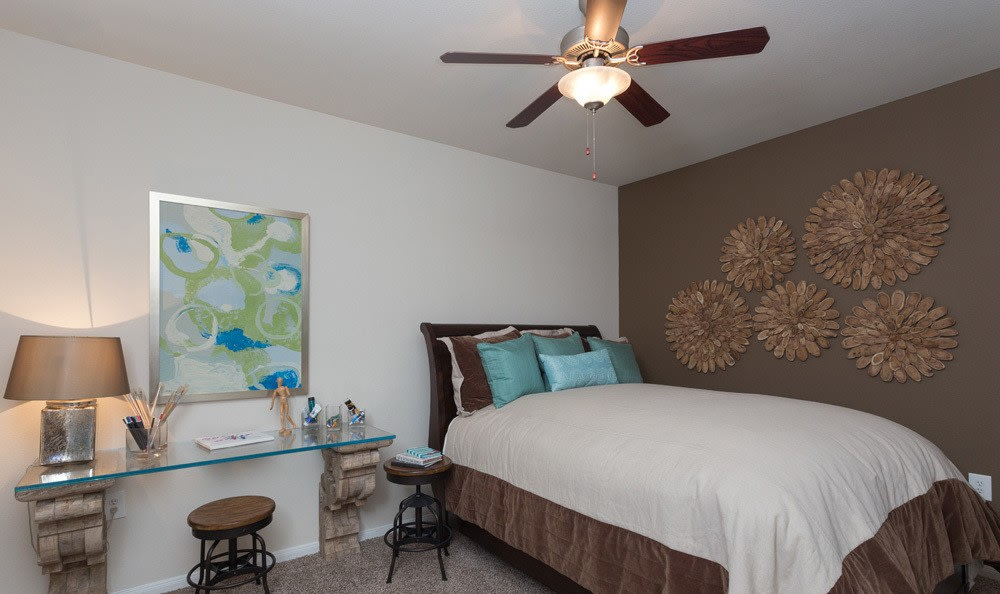 Comfortable bedroom in our Houston apartments
