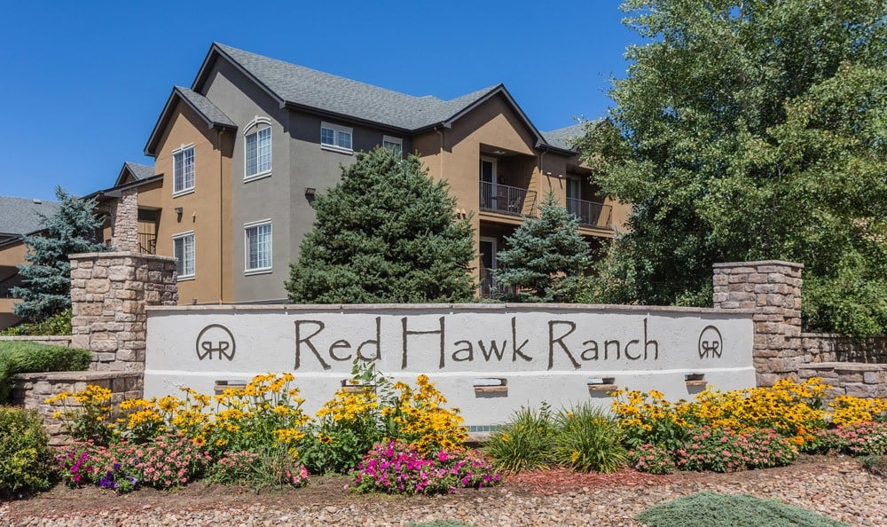 Front Entrance Sign at Red Hawk Ranch