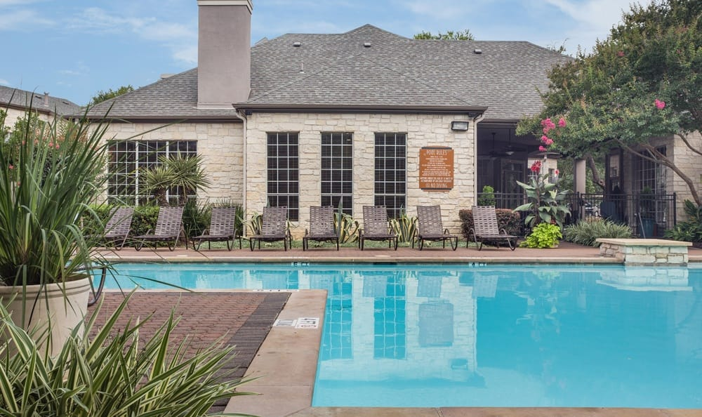 Relax by the pool at Austin apartments