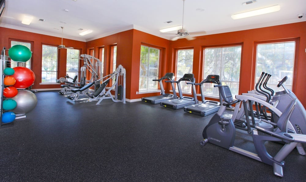 Spacious gym at Austin apartments