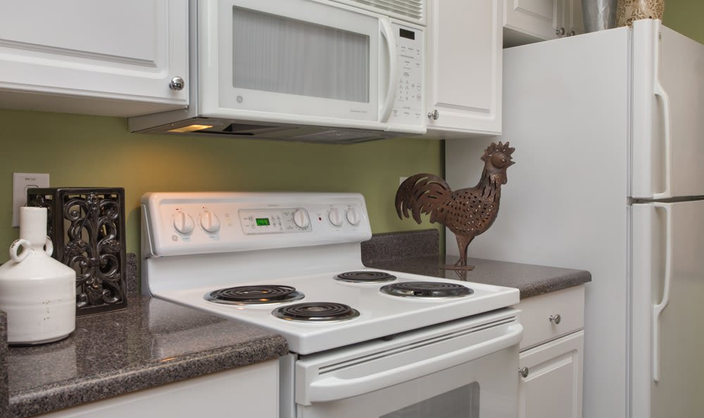 Kitchen area at Garland apartments
