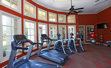 Garland apartments offering a fitness center