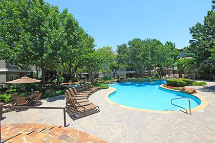 Swimming pool at our apartments in DAllas
