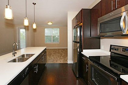 Watertown apartment amenities with modern kitchens