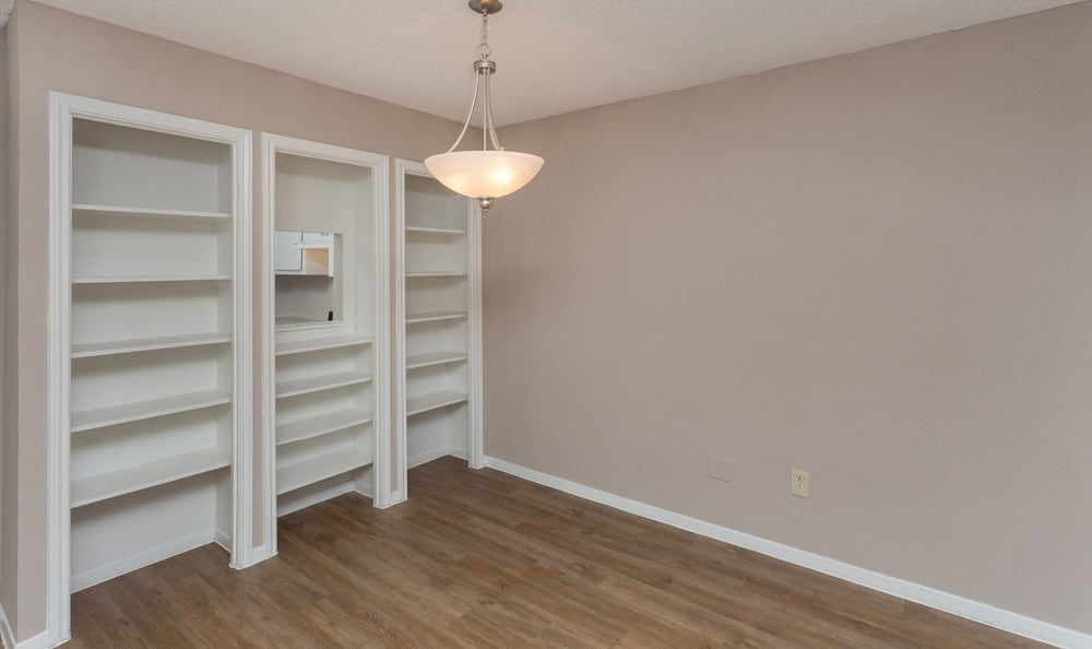 Nice wall storage in our Houston apartments