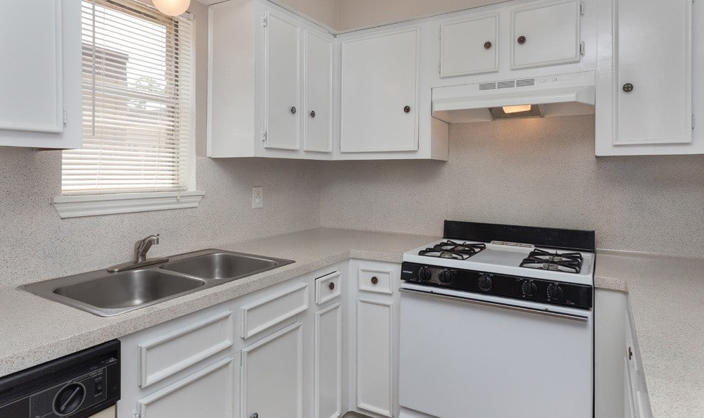 A view of a kitchen in our Houston apartments