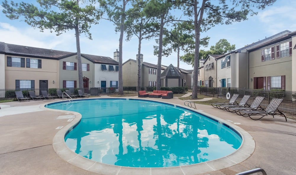 Beautiful pool at our Houston apartments
