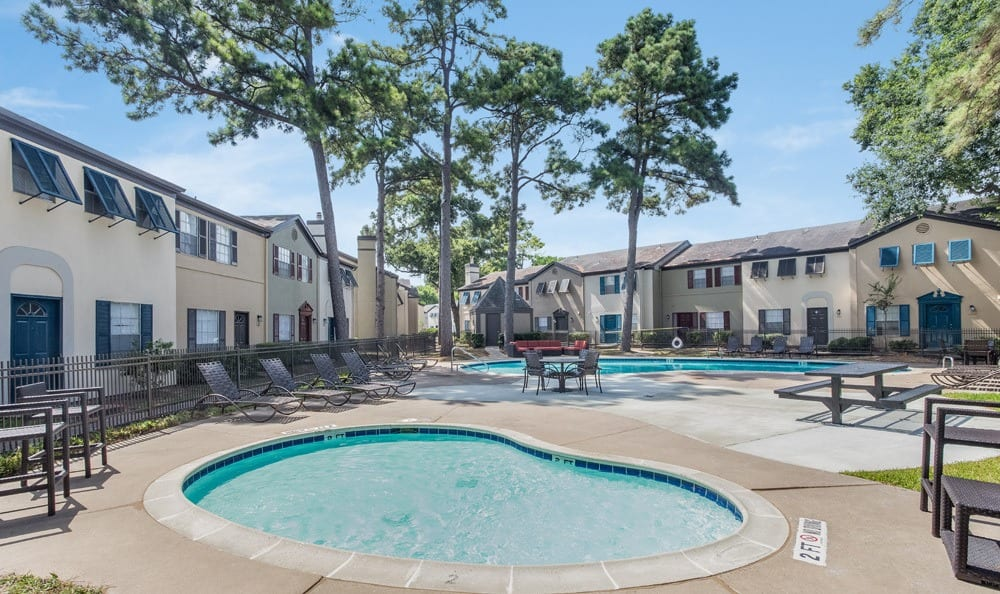 Nice pool shot at our Houston apartments