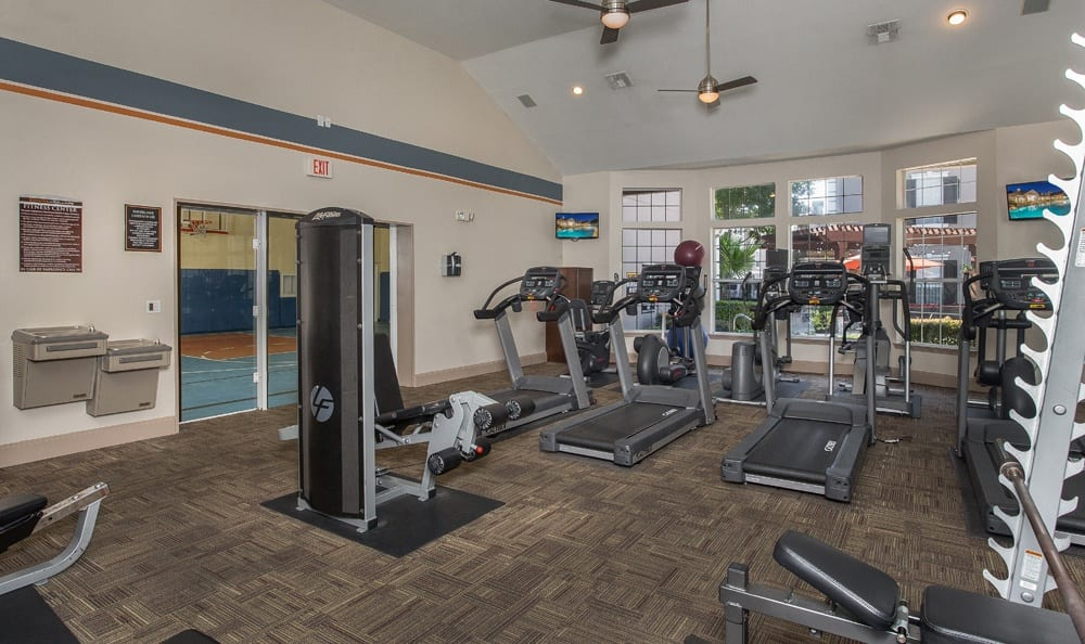 Stay fit at the gym at our Houston apartments