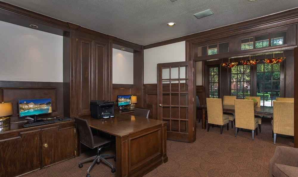 Take advantage of a conference room at Houston apartments