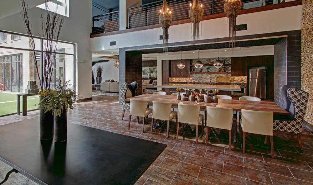 Eat dinner with friends or watch the big game at our luxury apartments