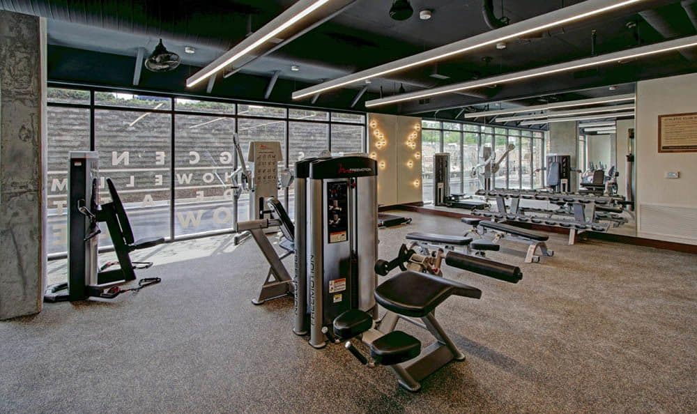 Fitness center at our luxury apartments