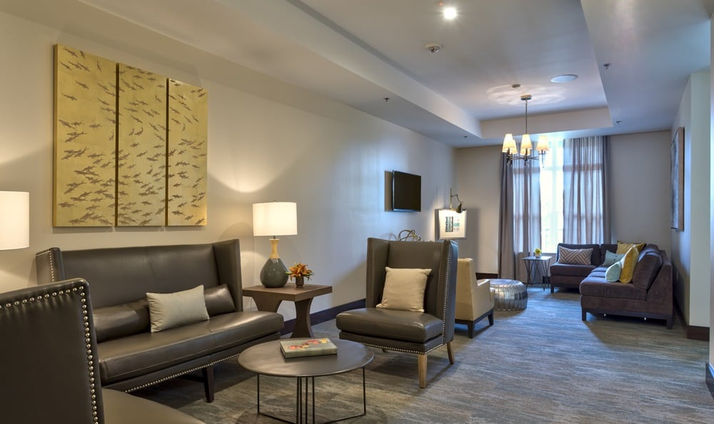 Relax at resident parlor of our luxury Durham apartments