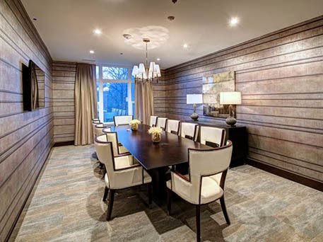 Beautiful dining area at our luxury apartments