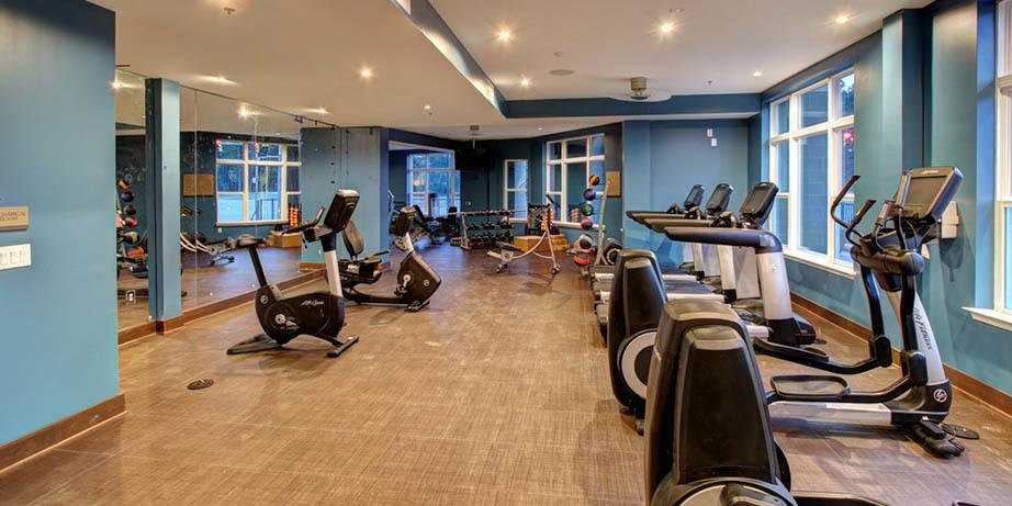 Stay in shape at our fitness center