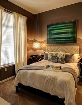 Luxury bedroom interior at Main Street