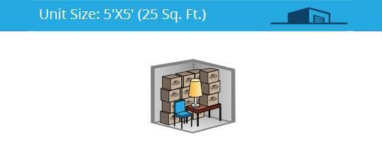 5x5 foot self storage unit