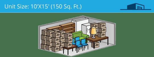 10x15 foot self storage unit