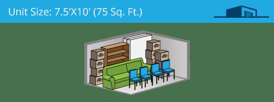 7.5x10 foot self storage unit