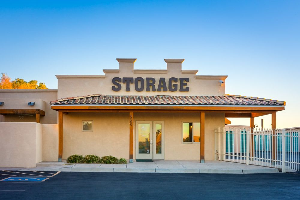 Entrance to Ventana Ranch Self Storage in Albuquerque, NM