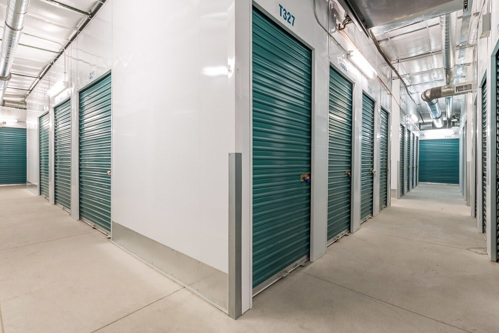 Unit hallway at self storage units in Albuquerque