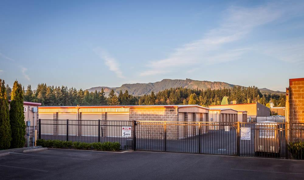 Gate leading to our self storage units in Enumclaw, Washington