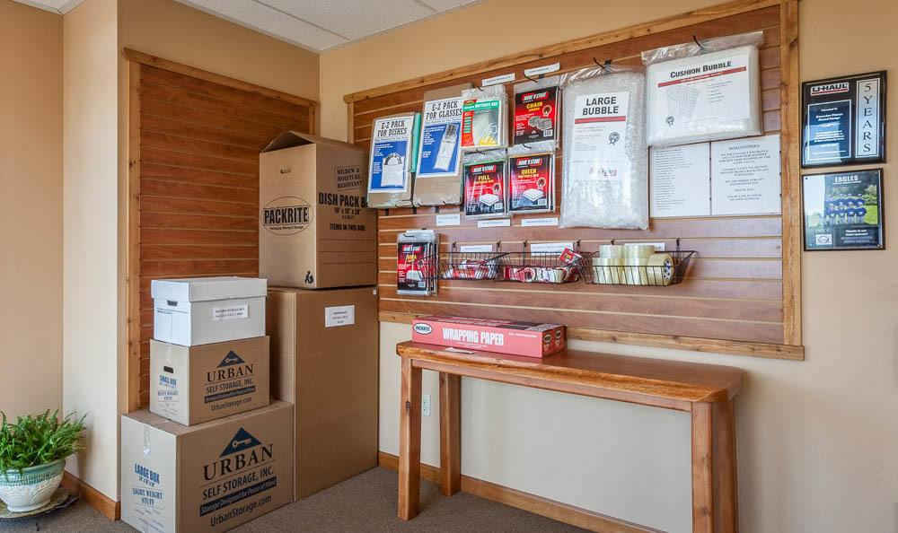 Packing and moving supplies at our self storage facility in Bonney Lake