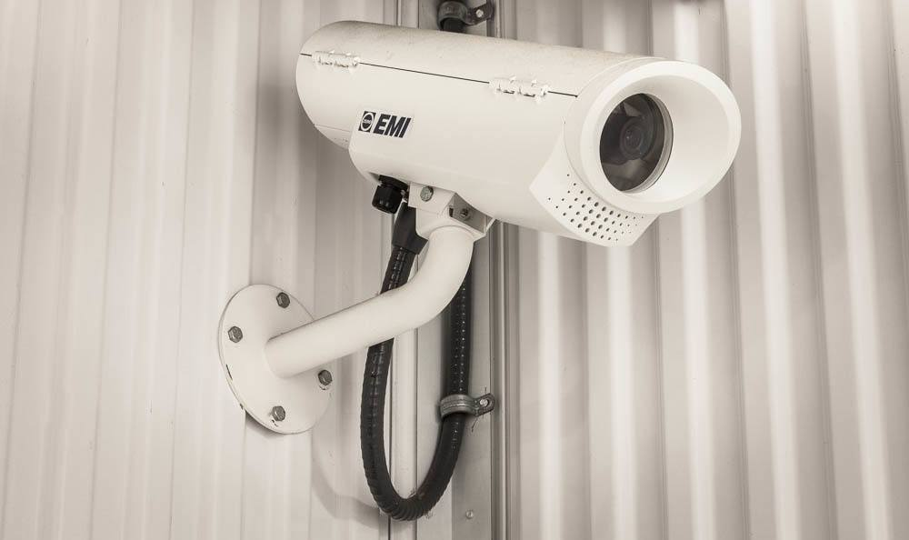 Security cameras on the self storage premises in Maple Valley, WA.