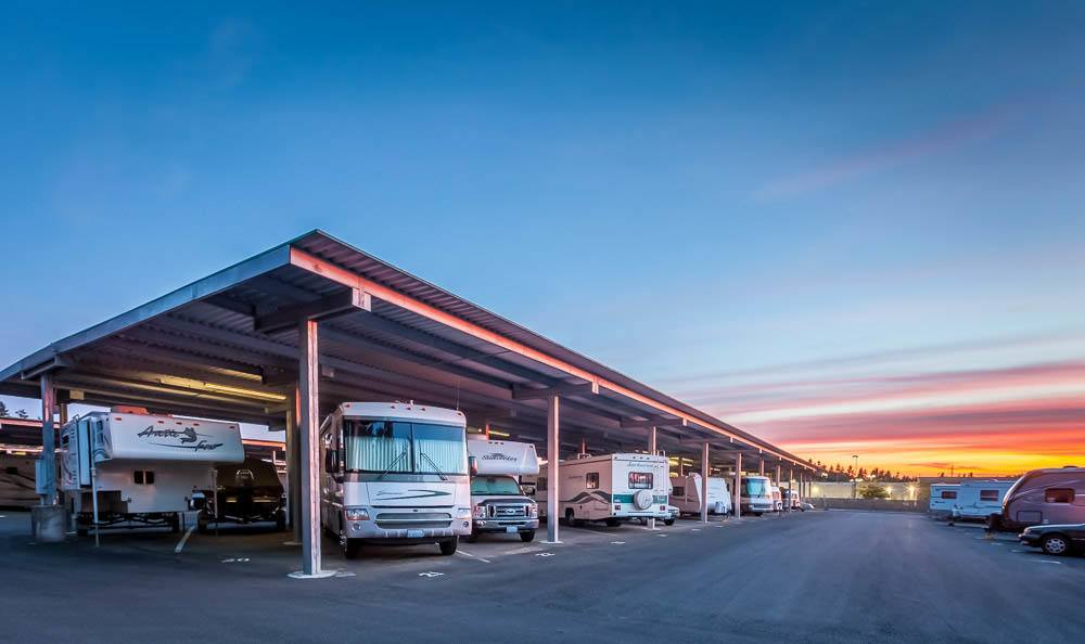 Plenty of storage for RVs of all sizes in Maple Valley, WA.