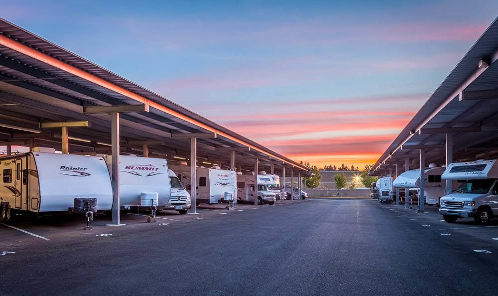 Easy access to rv storage in Maple Valley, Washington.