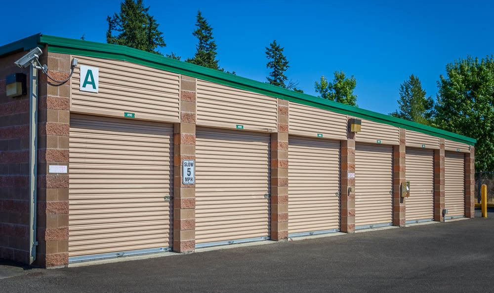 exterior self storage units in Maple Valley, WA.