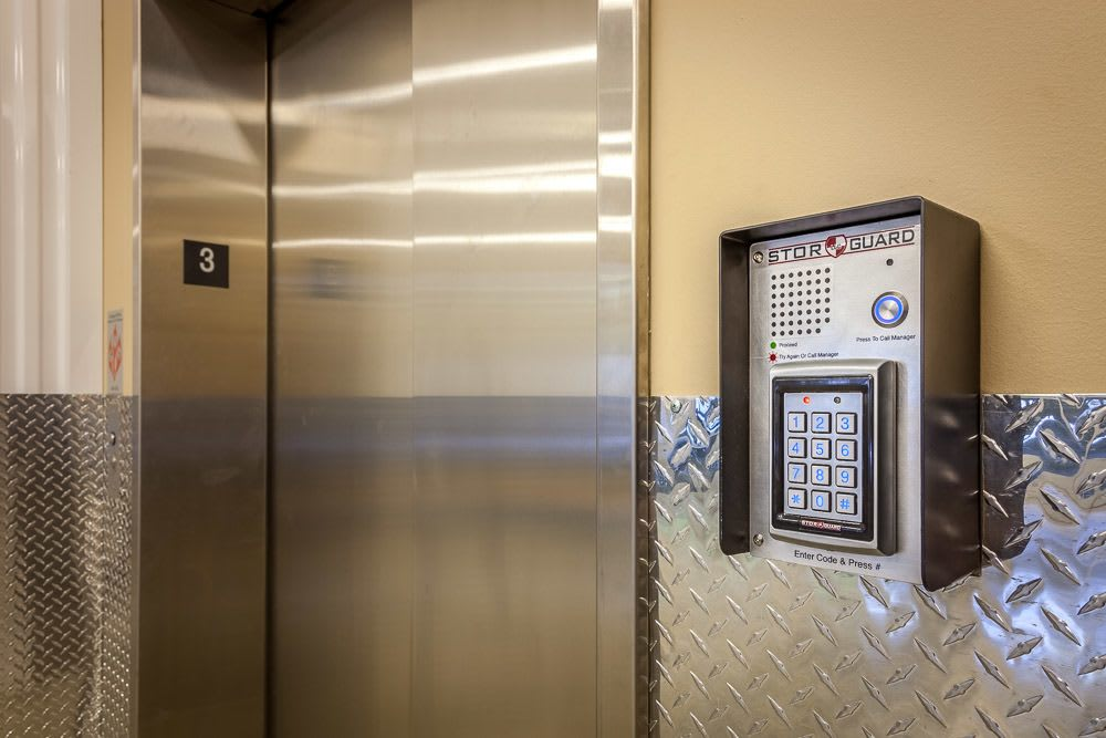 Interior keypad access for added security in Kirkland, WA.