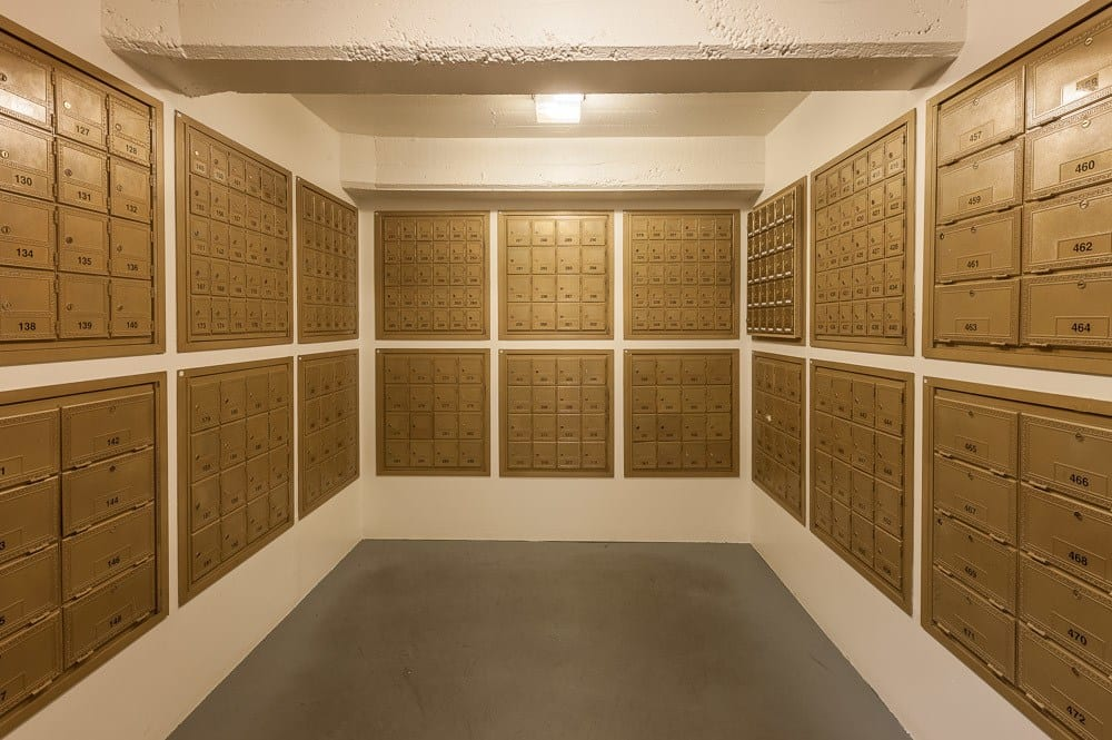 Mailboxes are readily available at our storage facility in Seattle, WA.