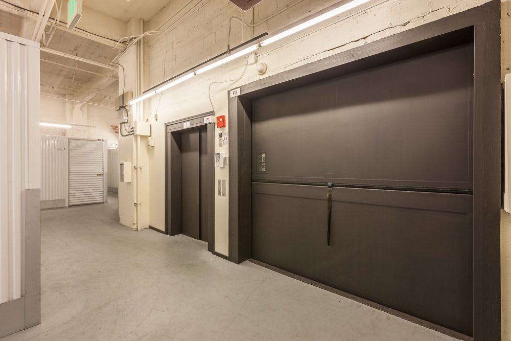 Large access elevators make moving your storage simple in Seattle, WA.