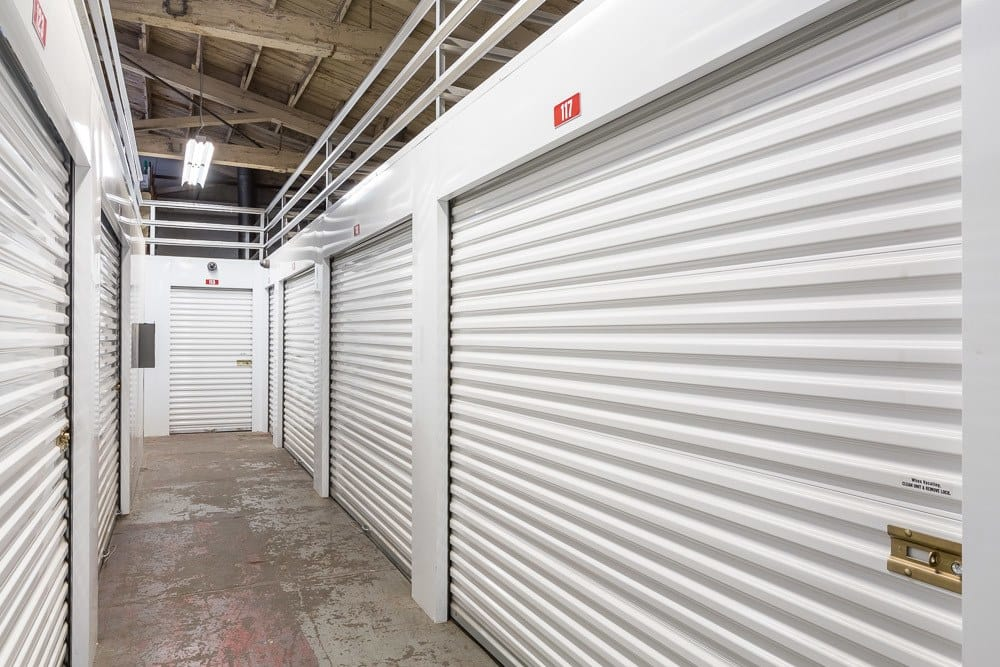 Interior hallway of our storage units in Portland, Oregon.