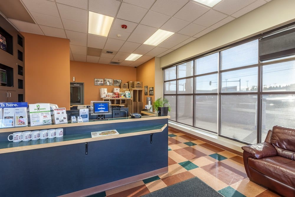 Spacious and welcoming office for our self storage facility in Seattle