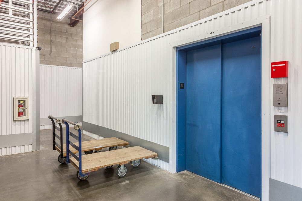 Easily accessible elevator at our storage facility in Seattle, Washington