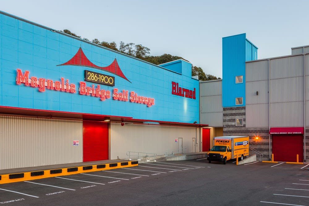 Hard to miss self storage facility in Seattle, Washington