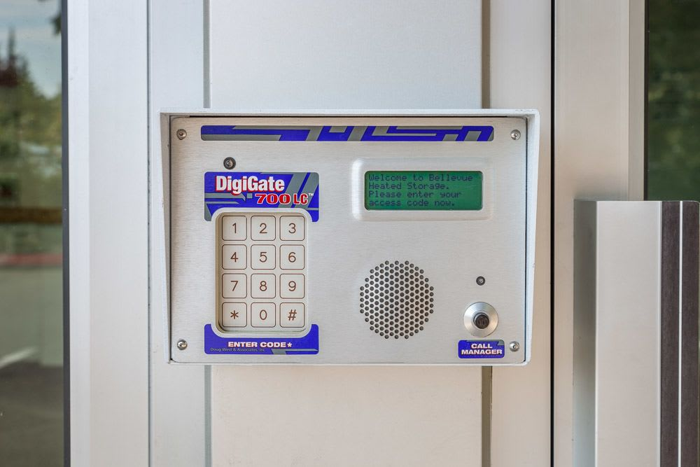 We offer electronic keypads to make sure your storage is safe in Bellevue, WA.