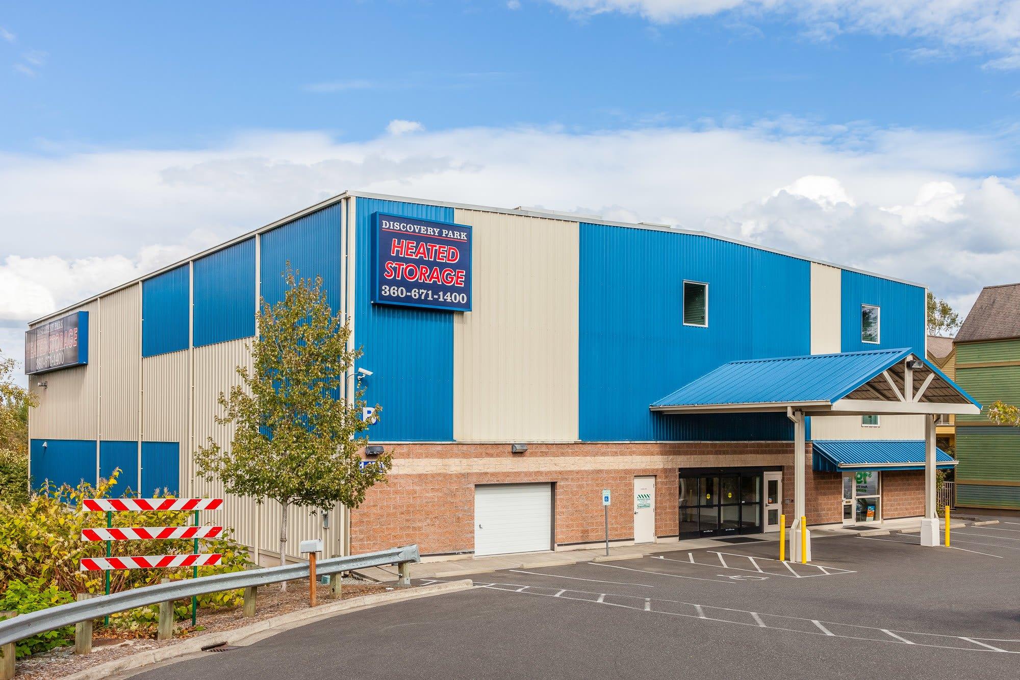 Exterior of self storage facility in Bellingham, Washington