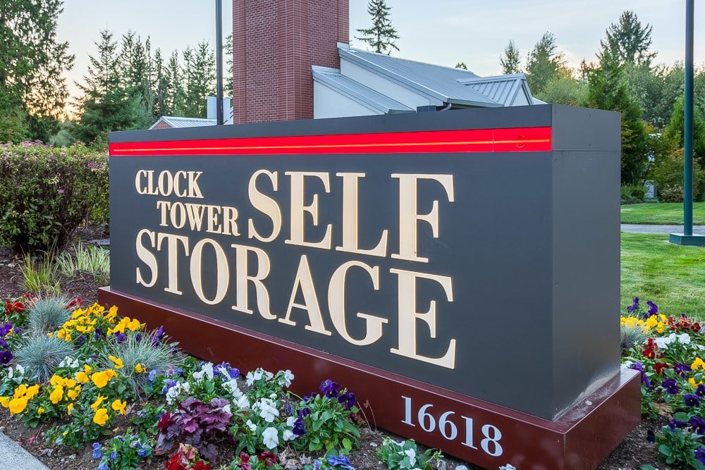 Our sign points you in the right direction to self storage in Mill Creek, WA.