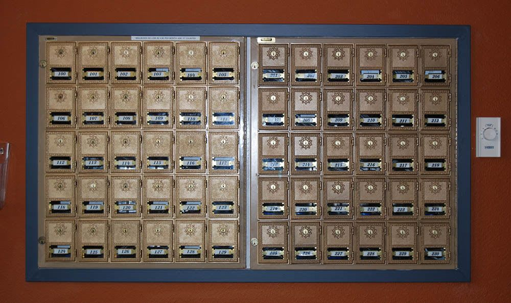 Mailboxes are also available in our storage facility in Tacoma, WA.