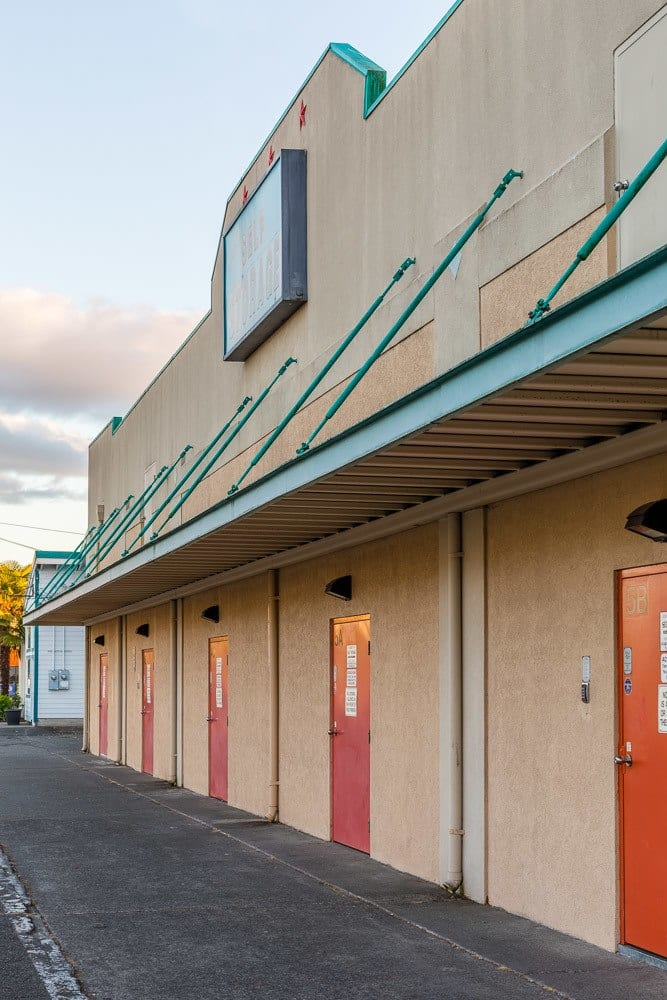 Exterior self storage units in Olympia Washington