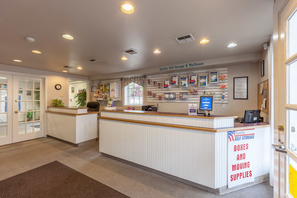 Main office and self storage supplies in Olympia Washington