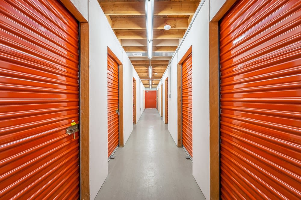 Interior self storage units in Olympia, WA
